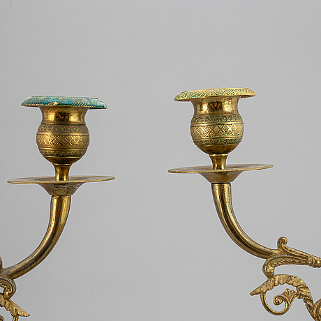 A pair of candelabra, first half of the 19th century.