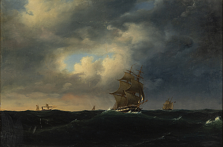 Marcus larsson, attributed to, oil on canvas.