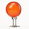 "Alessandro pianon, a ""pulcino"" glass sculpture of a bird, vistosi, italy 1960's."