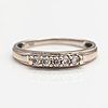 An 18k white gold ring with diamonds ca. 0.15 ct in total.