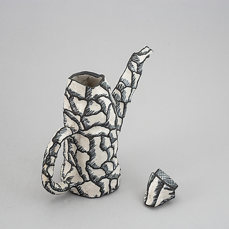 "Sergei isupov, a stoneware pot ""lördagsmorgon"" saturday morning, ca 1990."