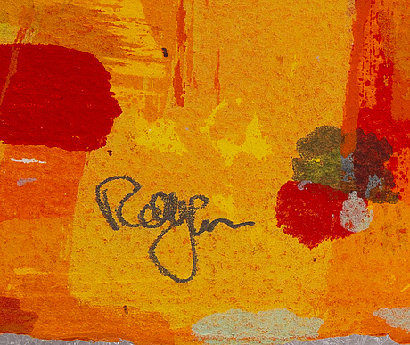 Rolf hanson, silkscreen in colours, signed arkivex a/a.