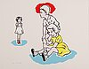 Marianne lindberg de geer, lithograph in colours, signed 5/60.