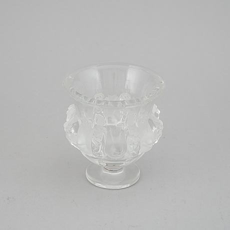 Lalique, skål på fot, glas, frankrike.