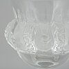 A lalique glass footed bowl, france.