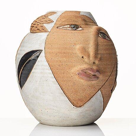 Eva bengtsson, a stoneware vase, studio eva bengtsson, frillesås, sweden.