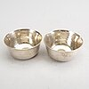 A set of two swedish 20th century silver cups mark of borgila stockholm 1972, total weight ca 182 gr.