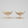 William robertson, a pair of parcel gilt silver salt cellars, edinburgh 1793.