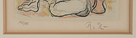 RyŪzaburŌ umehara, lithograph in colours, signed 158/175.