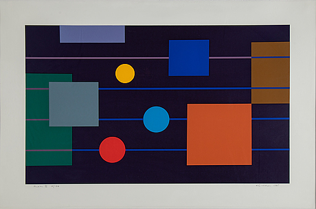 Kg nilson, lithograph in colours, 1985, signed 18/170.