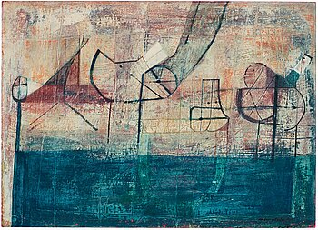 ANDERS ÖSTERLIN, oil on paper panel, signed and dated 1954.