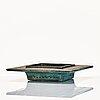 Rut bryk, a stoneware sculpture / dish, arabia, finland 1950-60's.