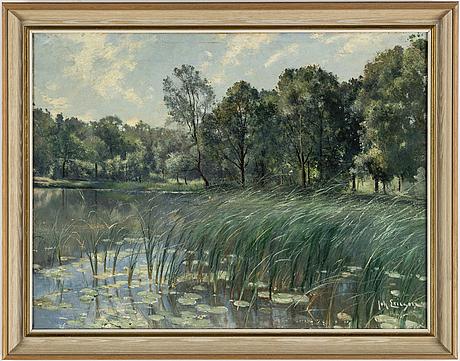 Johan ericson, oil on canvas, signed.