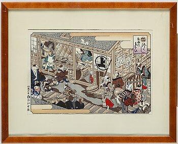OIDENTIFIERAD KONSTNÄR, färgträsnitt. Japan, 1900-tal.