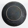 Friedl holzer-kjellberg a stoneware dish, signed arabia -f.h.kj.-.