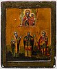 A russian icon, master vasily kovalevsky, moscow 1842.