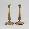 A pair of candlesticks, empire style.