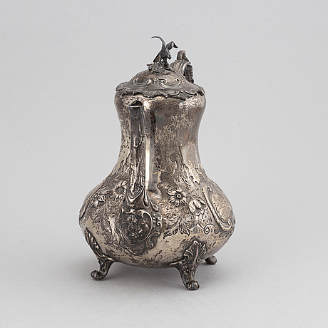 Kaffekanna, joseph angel ii, silver london 1856.