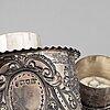 Tedosa samt vas, silver, london, england 18/1900-tal.