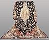 A carpet, figural silk qum, signerad, 300 x 196 cm.