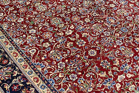 A carpet, yazd, signed, ca 390 x 304 cm.