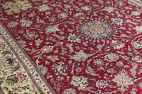 A carpet, tabriz, ca 381 x 302 cm.