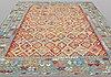 A carpet, kelim, ca 406 x 308 cm.
