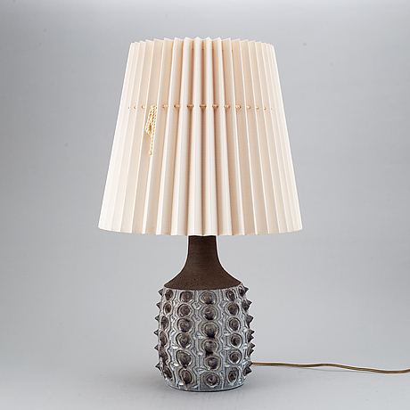 Jette hellerØ, a ceramic table lamp, denmark 1960's.