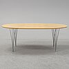 "Bruno mathsson and piet hein, an ""ellips"" lounge table."