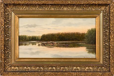 Hilda granstedt, oil on board, signed and dated 1893.