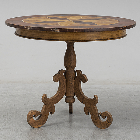A painted table, second half of the 19th century.