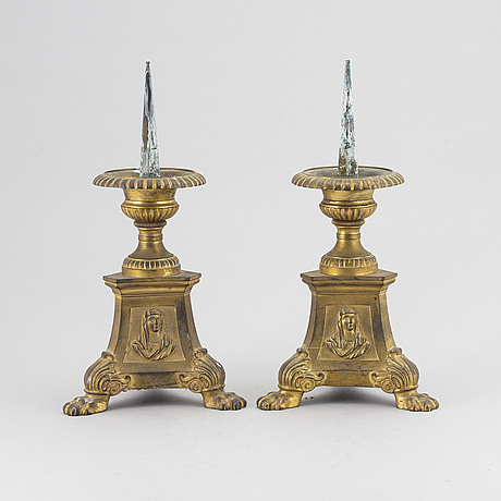 A pair of candlesticks from the 19th century.