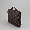 Bottega veneta, a lether briefcase.
