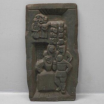 EDVIN ÖHRSTRÖM, Skulptur/relief. Brons 102 x 53 cm.
