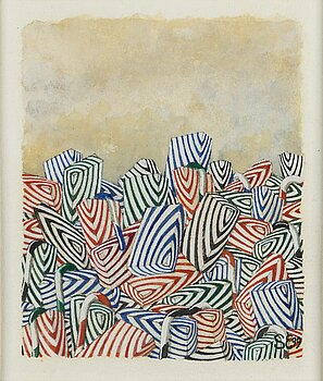 STEN EKLUND, gouache on paper, signed and dated 99.