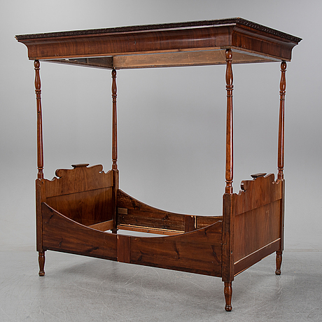 A late 19th century mahogany bed.