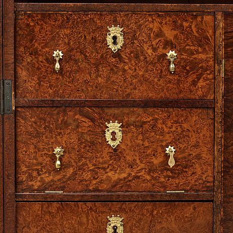 A swedish late baroque cabinet, first half of the 18th century.