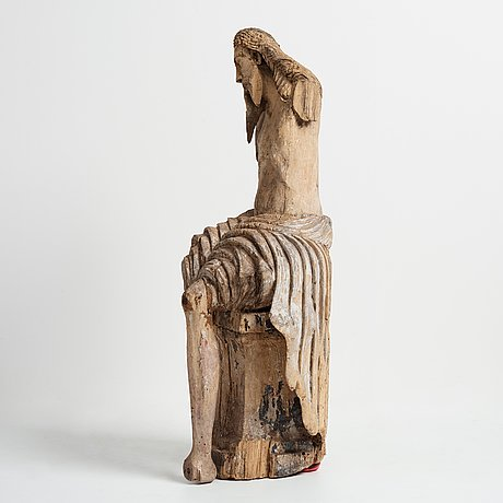 An late 15th century and around year 1600 carved wood sculpture.