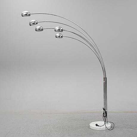 Golvlampa, cottex, 1900-talets andra hälft.