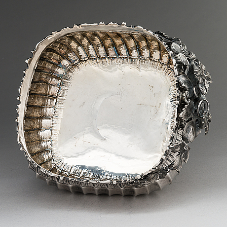 A silver centrepiece bowl, mid-20th century.