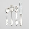 A 42-piece set of danish cutlery in silver and new silver (totally36+6), copenhagen 1900-18.