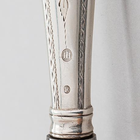 Aterinsarja, yht. 42 osaa, joista 36 kpl hopeaa ja 6 kpl uushopeaa, kööpenhamina, 1900-1918.
