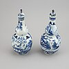 A pair of blue and white double gourd vases, qing dynasty, guangxu (1872-1908).