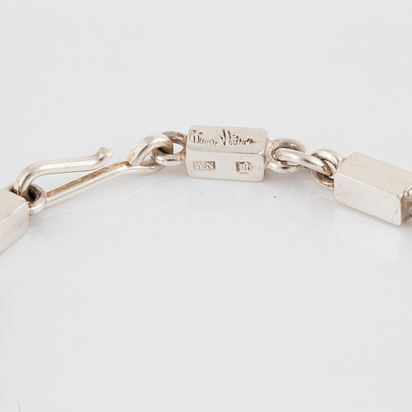 Wiwen nilsson, bracelet, silver, lund, 1970.