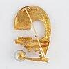 "BjÖrn weckstrÖm, brooch, ""solskeppet"",18k gold and pearl."