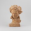 Ugo cipriani. sculpture. signed. terracotta, height 39 cm.
