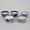 A group of 15 dishes and 5 cups, qing dynasty, qianlong (1736-95).