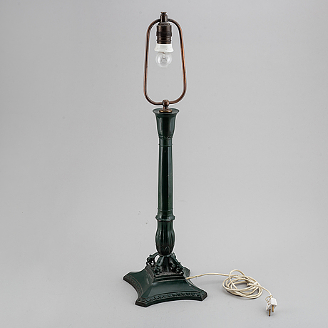 An empire style table light, just andersen, denmark, early 20th century.