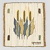 "MÄrta mÅÅs-fjetterstrÖm, a textile. tapestry weave, ""axet"" signed ab mmf (märta måås-fjetterström), 25 x 24 cm."