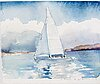 Lars lerin, watercolour, signed and dated -19.
